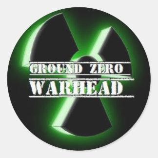 Ground Zero Warhead 3D Classic Round Sticker