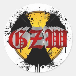 Ground Zero Warhead Vector Classic Round Sticker