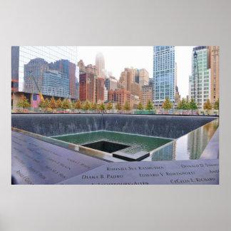 Ground Zero WTC Memorial Fountains Poster