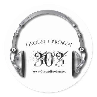 GroundBroken Logo Classic Round Sticker