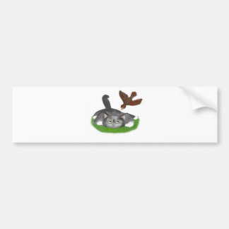 Grounded by an Irate Bird Bumper Sticker