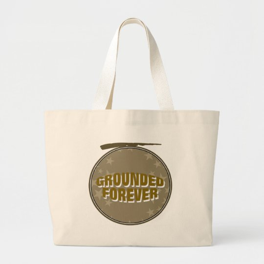 Grounded Forever Large Tote Bag