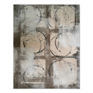 'Grounded' Neutral Abstract Art Poster