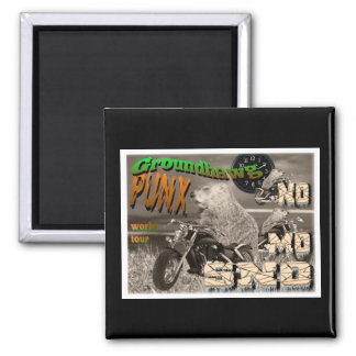 Groundhawg PUNX world tour NO MO SNO 2 Inch Square Magnet