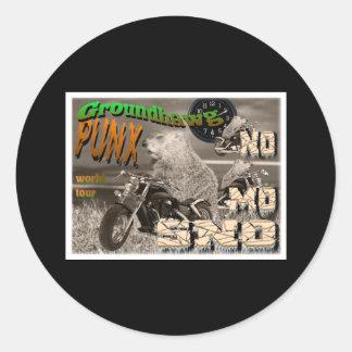 Groundhawg PUNX world tour NO MO SNO Classic Round Sticker