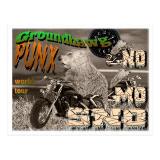 Groundhawg PUNX world tour NO MO SNO Postcard