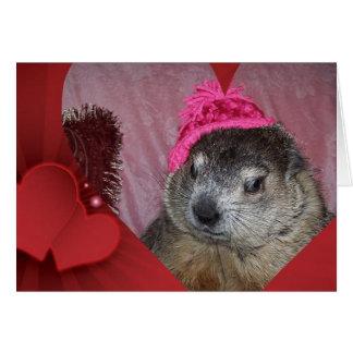 Groundhog, Clara Valentine's Day Card