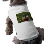 Groundhog con las flores camisas de mascota