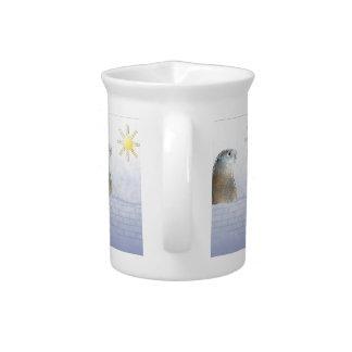 Groundhog congelado jarra de beber