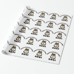 Groundhog Day 2021 with Groundhog in Face Mask Wrapping Paper