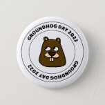 Groundhog Day 2022 with Groundhog Face Button