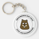 Groundhog Day 2022 with Groundhog Face Keychain