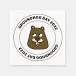 Groundhog Day 2022 with Groundhog Face Napkins