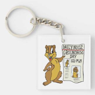 Groundhog Day 4 Keychain