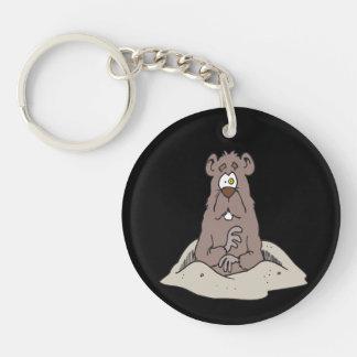 Groundhog Day 5 Single-Sided Round Acrylic Keychain