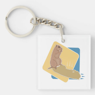 Groundhog Day 6 Double-Sided Square Acrylic Keychain
