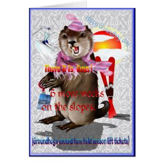Groundhog Day-6 más semanas Tarjeta De Felicitación