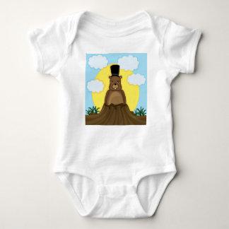 Groundhog day baby bodysuit