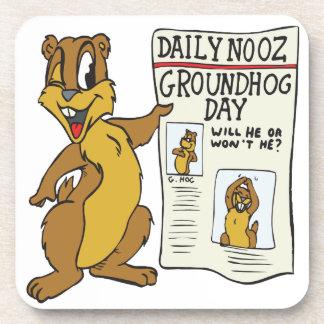 Groundhog Day Beverage Coaster