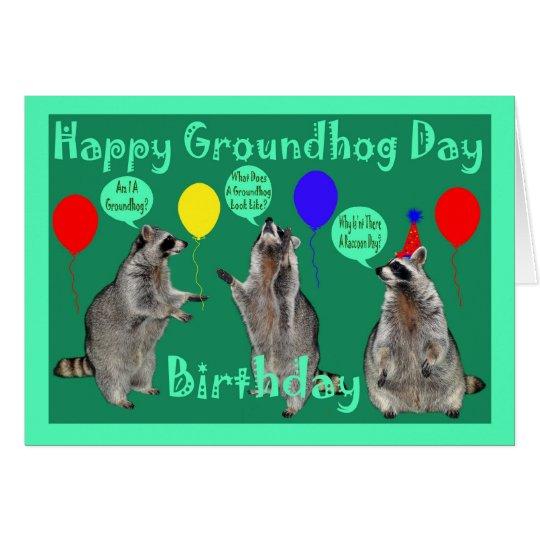 Groundhog day birthday greeting card zazzle groundhog day birthday greeting card m4hsunfo Choice Image
