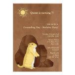 Groundhog Day Birthday Party Invitation