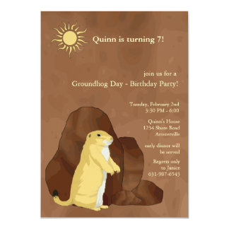 Groundhog Day Birthday Party Invitation