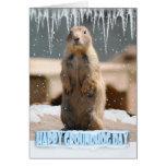 Groundhog Day Card, Happy Groundhog Day Card