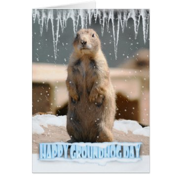 moonlake Groundhog Day Card, Happy Groundhog Day Card