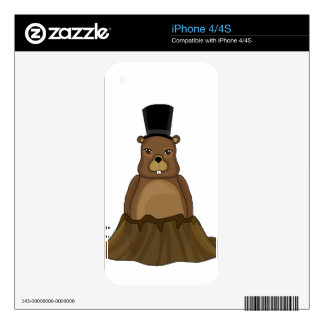 Groundhog day - Cartoon style Skins For The iPhone 4