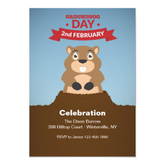 Groundhog Day Celebration Invitation