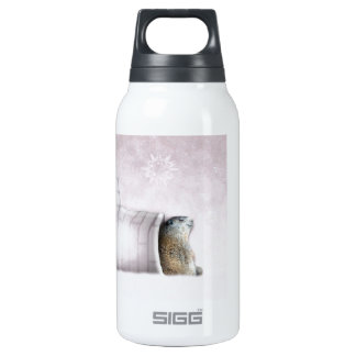Groundhog Day - Chillin' at the igloo Insulated Water Bottle