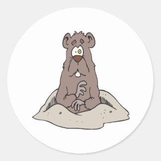 Groundhog Day Classic Round Sticker