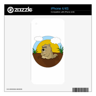 Groundhog day decals for iPhone 4