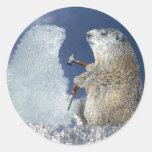 Groundhog Day Ice Sculpture Sticker