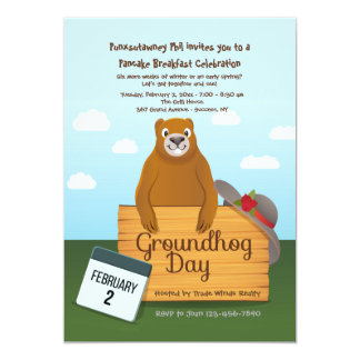 Groundhog Day Invitations