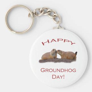 Groundhog Day Kiss Basic Round Button Keychain