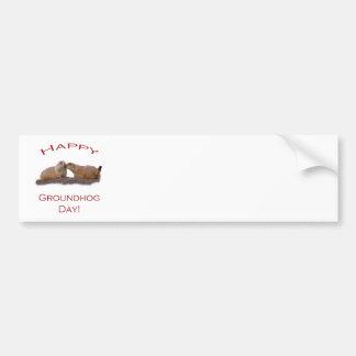 Groundhog Day Kiss Car Bumper Sticker