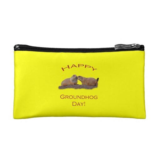 Groundhog Day Kiss Cosmetic Bag