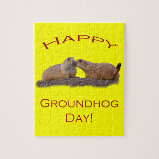 Groundhog Day Kiss Jigsaw Puzzle