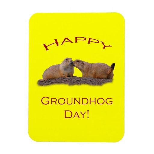 Groundhog Day Kiss Rectangular Magnets