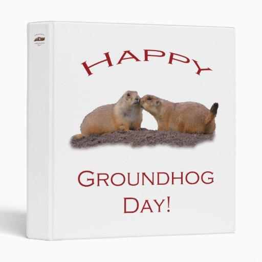 Groundhog Day Kiss Vinyl Binders