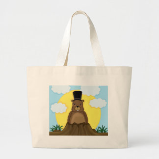 Groundhog day large tote bag