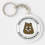 Groundhog Day Lover Keychain