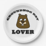 Groundhog Day Lover Paper Plate