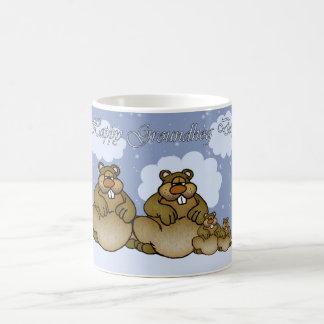 Groundhog Day Mug With Cute Groundhog Family