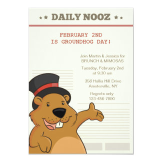 Groundhog Day Nooz Invitation