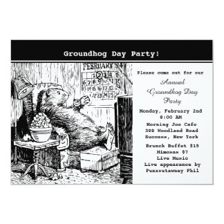 Groundhog Day Party Invitation