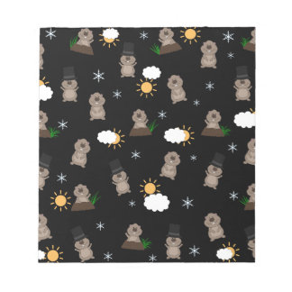 Groundhog Day Pattern Notepad