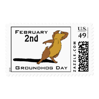 Groundhog Day Postage Stamps
