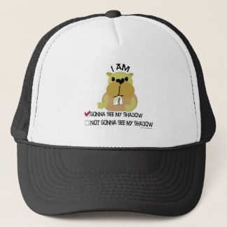 Groundhog day vote  shadow trucker hat